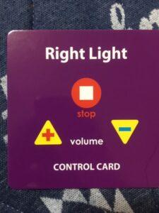 ワールドファミリーライトライトペン用コントロールカード