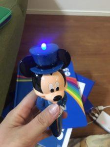 ワールドファミリーミッキーの新ライトライトペンの頭部